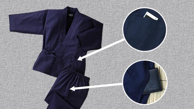 上着の左側とズボンの両脇にはポケット付き